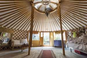 Glamping in Yurt